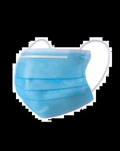 Mondkapje 3 - laags met neusbrug en elastiek (prijs is per stuk, voldoende voorraad)