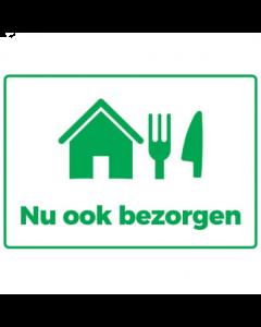 Sticker 'Nu ook bezorgen'- Easy Dot Vinyl - A4