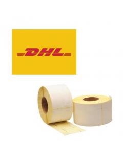 Thermische DHL verzendetiketten op rol 100 mm x 210 mm, kern 25