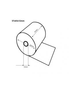 Thermische kassarollen / bonrollen 57x65x12 FSC (50 rollen)