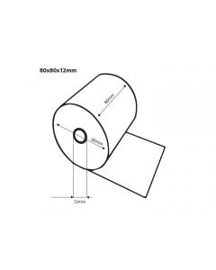 Thermische kassarollen BPA vrij 80x80x12 FSC 75 meter op rol (50 rollen)