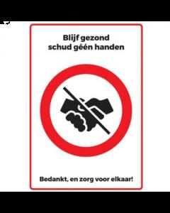 Sticker Schud geen handen - Easy Dot Vinyl - A4