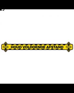 Houd afstand sticker - Lijn - Verwijderbaar - 100 cm
