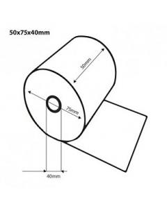 Thermische kassarollen / bonrollen BPA vrij 50x75x40 FSC Inhoud 50 rollen