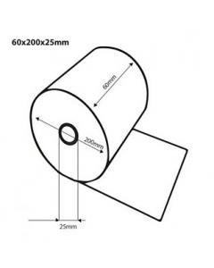 Thermische kassarollen / bonrollen 60x200x25 FSC Inhoud 6 rollen 70grs.