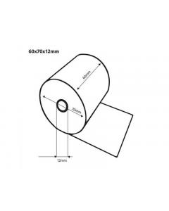 Thermische pinrol BPA vrij 60x70x12 FSC Inhoud 50 rollen